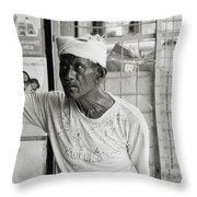 The Worker In Cochin Throw Pillow
