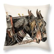 The Working Class Throw Pillow