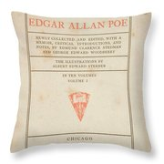 The Works Of Edgar Allan Poe Throw Pillow
