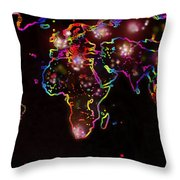 The World At Night  Throw Pillow