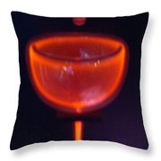 The World Falls Into A Firey Cup Throw Pillow by Douglas Barnett