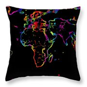 The World In The Past Throw Pillow by Augusta Stylianou