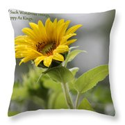 The World Is Full Throw Pillow