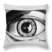 The World Is In The Eye Of The Beholder. Throw Pillow