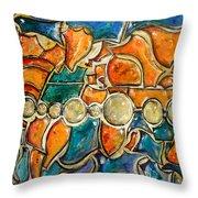 The World - Marcello Cicchini Throw Pillow