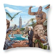 The World Of Willis O'brien Throw Pillow