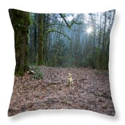 The World She Lives In Throw Pillow