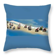 The World Super Bike Grid Throw Pillow