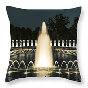 The World War II Memorial Throw Pillow