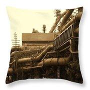 The Worm Passageways Throw Pillow