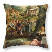 The Worship Of The Golden Calf Throw Pillow