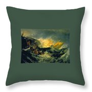 The Wreck Of A Transport Ship Throw Pillow
