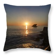 The Wreck Of The Atlantus - Cape May New Jersey Throw Pillow