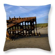 The Wreck Of The Peter Iredale - Oregon Throw Pillow