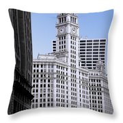 The Wrigley - A Building That Is Pure Chicago Throw Pillow