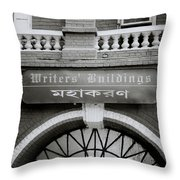 The Writers Buildings Throw Pillow