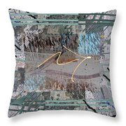 The Writing On The Wall 13 Throw Pillow