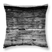 The Writing On The Wall Throw Pillow