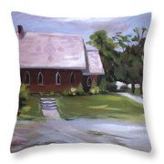 The Wyben Union Church Throw Pillow