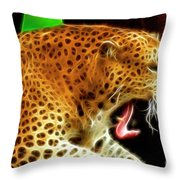 The Yawn Throw Pillow