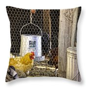 The Yellow Chicken Throw Pillow