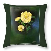 The Yellow Daisy Throw Pillow