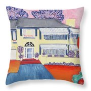 The Yellow House Throw Pillow