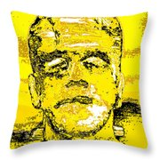The Yellow Monster Throw Pillow