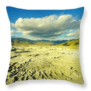 The Yellow Rock Of Yellowstone Throw Pillow