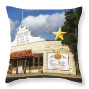 The Yellow Rose Of Crawford Texas Throw Pillow