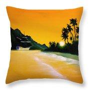 The Yellow Sea Throw Pillow