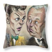 The Young Frank Sinatra Looking At The Old Frank Throw Pillow