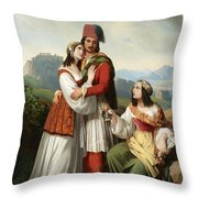 The Young Man's Farewell Throw Pillow