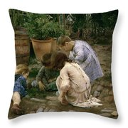 The Young Naturalists Throw Pillow