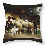 The Young Shepherd Throw Pillow