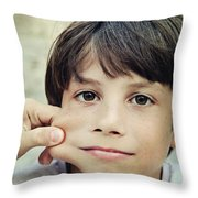 The Youngest Throw Pillow