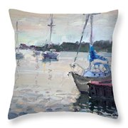 The Youngstown Yachts Throw Pillow