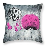 The Zebra Effect 1 Throw Pillow by Oddball Art Co by Lizzy Love