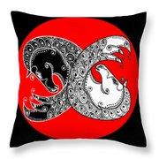 The Zen Of Horses Throw Pillow