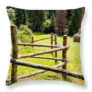 The Zig-zag Fence Throw Pillow