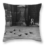 The Zocolo Mexico City Mexico 1970 Throw Pillow