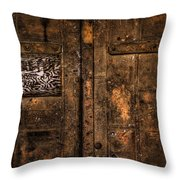Theater Exit Throw Pillow