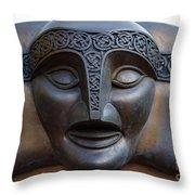 Theater Mask Throw Pillow
