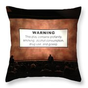 Theater Night In New York Throw Pillow