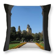 Theatiner Church Munich Throw Pillow