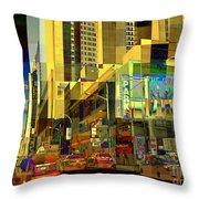 Theatre District - Neighborhoods Of New York City Throw Pillow
