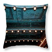 Theatre Lights Throw Pillow