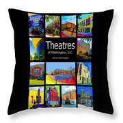 Theatres Of Washington Dc Throw Pillow by Jost Houk
