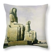 Thebes Throw Pillow by David Roberts
