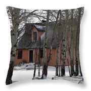 Thee Old Pink House Throw Pillow